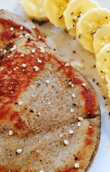 Gluten-Free Banana Protein Pancakes
