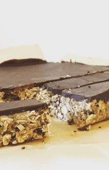 Chewy Gluten-Free Choc Top Granola Bars (can be nut-free)