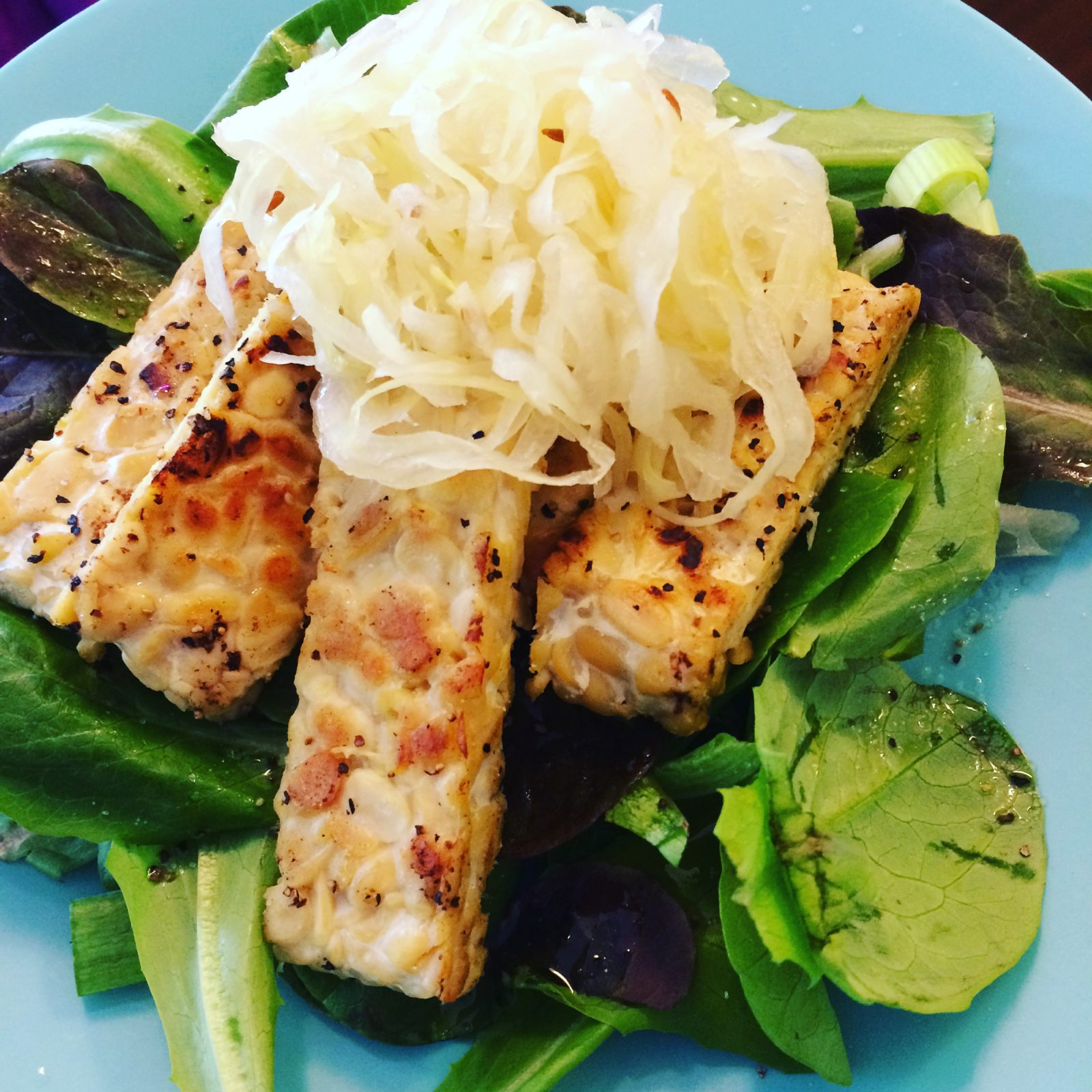 tempeh healthy lunch