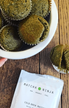 Gluten-Free Vanilla Lemon Matcha Muffins
