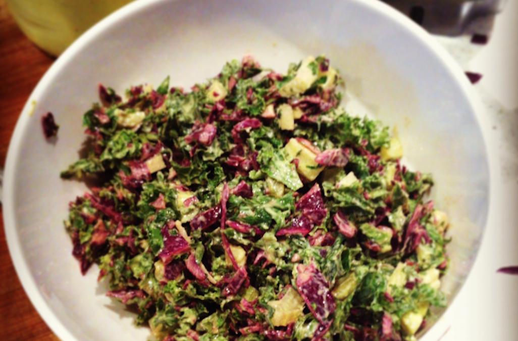 Simple Sweet Kale Salad